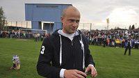 O přestávce se setkal bývalý kapitán Baníku Martin Lukeš (na snímku) s fanoušky, kteří mu přišli poděkovat.