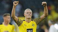 Erling Haaland po výhře Dortmundu proti Frankfurtu.