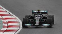 Pilot Mercedesu Valtteri Bottas v akci