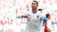Největší hvězda letošního MS - Portugalec Cristiano Ronaldo. Proti Maroku dal gól, byla to už jeho čtvrtá trefa na šampionátu v Rusku.