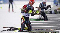 Biatlonista Michal Krčmář během mistrovství Evropy v Novém Městě na Moravě.