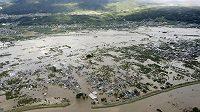 Následky tajfunu Hagibis. Ilustrační foto.
