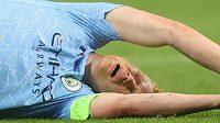 Zraněný Kevin De Bruyne, kapitán Manchesteru City a jeden z klíčových hráčů belgické reprezentace....