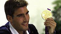 Moderní pětibojař David Svoboda s olympijským zlatem z Londýna.