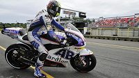 Karel Abraham v dnešní kvalifikaci kategorie MotoGP