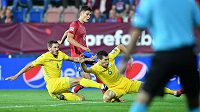 Český útočník Patrik Schick poslal tým Karla Jarolíma do vedení v utkání Ligy národů s Ukrajinou.