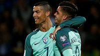 Fotbalisté Portugalska zvládli potvrdit roli favorita, když zvítězili v kvalifikaci o postup na MS 2018 na hřišti Lotyšska 3:0. Dvěma trefami k tomu Portugalcům pomohl Cristiano Ronaldo (vlevo).