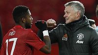 Manažer Manchesteru United Ole Gunnar Solskjaer po zápase s Fredem.