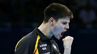 Stolní tenista Dmitrij Ovtcharov z Německa po postupu do semifinále olympijského turnaje.