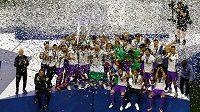 Zasloužená radost fotbalistů Realu Madrid.