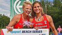 Beachvolejbalistky Martina Maixnerová a Marie Sára Štochlová se těší na mistrovství republiky.