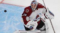 Pavel Francouz v brance Colorada v NHL.