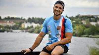 Kanoista Martin Fuksa před startem na mistrovství světa v rychlostní kanoistice v Maďarsku.
