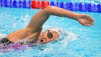 Barbora Závadová během závodu na 400 metrů volný způsob, do finále nepostoupila
