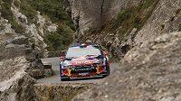 Sébastien Loeb na Rallye Monte Carlo 2012.