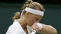 Smutek Petry Kvitové. Američanka Serena Williamsová byla ve čtvrtfinále Wimbledonu nad síly české tenisové jedničky