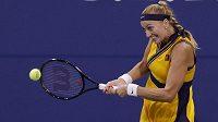 enistka Petra Kvitová potřebovala jen hodinu a minutu, aby v 1. kole grandslamového US Open mohla slavit postup.
