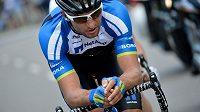 Český cyklista Jan Bárta z týmu NetApp-Endura jel ve třetí etapě Tour de France skoro 10 kilometrů na čele, ale v závěru ho předstihl peloton.