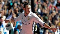 Velšský fotbalista Gareth Bale se raduje z gólu proti Leganés.