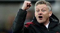 Manažer United Ole Gunnar Solskjaer má důvod k radosti.