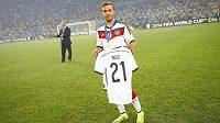 Mario Götze si vzpomněl i na kamaráda Marka Reuse, který o MS pro zranění přišel.