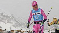 Česká závodnice Kateřina Smutná v prologu seriálu Ski Classics v dálkovém lyžování