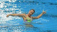 Olympionička Alžběta Dufková se na mistrovství světa v technickém programu jednotlivkyň do elitní dvanáctky nedostala.