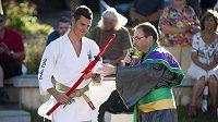 Ústí nad Orlicí přivítalo místního rodáka Jaroslava Kulhavého (vlevo) po olympijském úspěchu Riu v japonském stylu.
