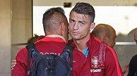 Kapitán Portugalců Cristiano Ronaldo.