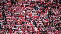 Fanoušci fotbalistů Slavie Praha