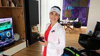 Belinda Bencicová si zahrála alespoň virtuální turnaj.