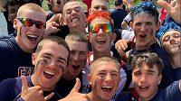 Bronzová selfie juniorských softbalistů.