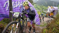 Kristián Hynek na trati Alpentour v Rakousku.