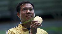 Sportovní střelec Hoang Xuan Vinh, olympijský vítěz ve vzduchové pistoli.