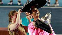 I pro Rafaela Nadala byl připraven tradiční mexický klobouk sombrero.