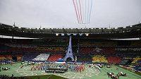 Slavnostní zahájení evropského šampionátu ve Francii.