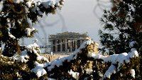 Akropolis pod sněhem, ilustrační snímek.