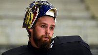 Brankář české hokejové reprezentace Patrik Bartošák.