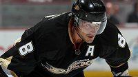 Legendární finský hokejový útočník Teemu Selänne ještě dresu Anaheimu.