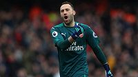 Brankář Arsenalu David Ospina.