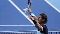 Rafael Nadal po vítězství nad Lukášem Rosolem.