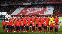 Jihokorejští fotbalisté před přípravným utkáním s Bosnou a Hercegovinou.