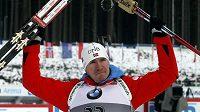 Nor Emil Hegle Svendsen oslavuje triumf