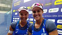 České beachvolejbalistky Markéta Nausch Sluková a Barbora Hermannová postoupily na turnaji Světové série v Ostravě do finále