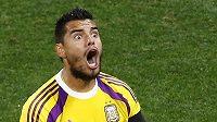 Argentinský brankář Sergio Romero dal po úspěchu v penaltovém rozstřelu průchod emocím.