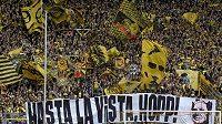 Příznivci Borussie Dortmund musí na své tradiční choreo ve finále Ligy mistrů zapomenout.