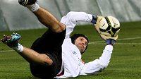 Takhle se Petr Čech připravoval na kvalifikační duel s Bulharskem.