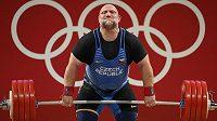 Vzpírání, nad 109 kg muži, finále. Jiří Orság