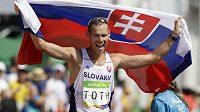 Slovenský chodec Matěj Tóth při vítězství na Olympijských hrách v roce 2016.