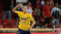 David Jablonský z Teplic se raduje z gólu.